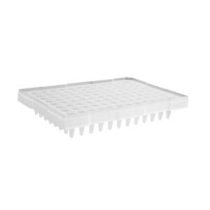 Microplaca PCR 96 pocillos con medio faldón, compatible con termocicladores ABI, transparente, no estéril, 50 Uds.