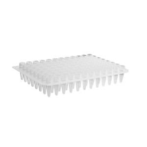 Microplaca PCR 96 pocillos de polipropileno sin faldón, transparente, no estéril, 50 Uds.