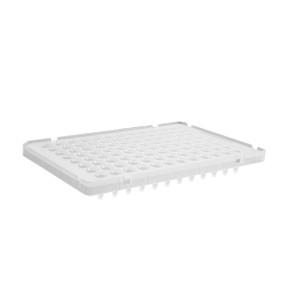 Microplaca PCR 96 pocillos,medio faldón,perfil bajo,transparente,compatible con termocicladores ABI,no estéril,100Uds