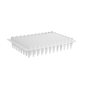 Microplaca PCR 96 pocillos elevados de polipropileno, compatible con MegaBACE Sequencer, transparente, 50 Uds.