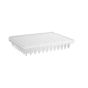 Microplaca PCR 96 pocillos con tiras presegmentadas de 24 pocillos, transparente, no estéril, 50 Uds.
