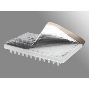 Película de sellado de aluminio para placa PCR, 35 µm, reflectante, no estéril, 500 uds.