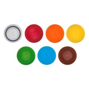 Tapones rosca para tubos de microcentrífuga con O-ring, sin bucles,PP,amarillo, no estéril,500 tapones_Pack,8Packs_Caja