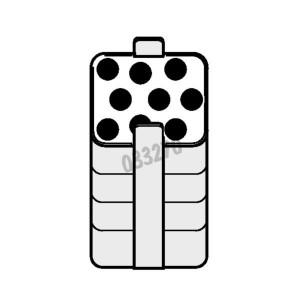ADAPTADOR RECTANGULAR PARA 9 TUBOS 15ml TIPO FALCON x 2