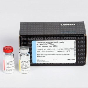 Test Detección Endotoxinas Pyrogent Plus Gel Clot,4 x 16 Tests_Vial, 1 x 10 ng_vial Endotoxin, 5 ml Vial, 0.125 EU_ ml