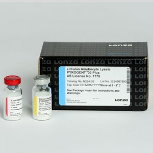 Test Detección Endotoxinas Pyrogent Plus Gel Clot, 0,03 EU_ ml, 1 kit de 200 tests (lisado y endotoxina 10 ng_ ml)