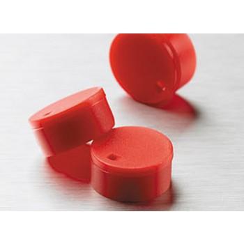 Cubretapones para crioviales, polipropileno,rojo, 500 Uds.
