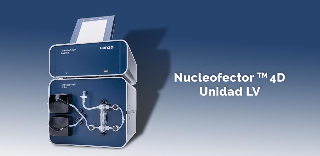 Nucleofector™ 4D: transfección a gran escala