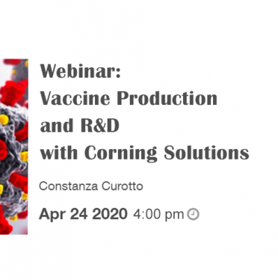 Free webinar: Vaccine Production and R&D with Corning Solutions