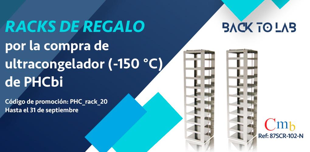 Racks de regalo por la compra de tu congelador de -150 ºC (PHCBi)