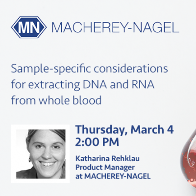 Webinar: Sample-specific considerations for extracting DNA and RNA from whole blood